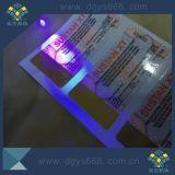 Unsichtbarer Drucken-UVaufkleber mit Hologramm