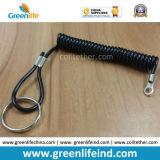 Пластичная петля безопасности кончает цепи Extendable спиральн Свертывать спиралью-Типа ключевые