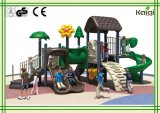 Árvore de floresta do tamanho e casa pequenas da flor do campo de jogos ao ar livre, campo de jogos ao ar livre pequeno da casa de árvore