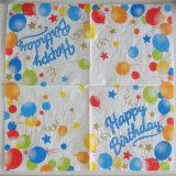 La servilleta de papel decorativa de los productos del cumpleaños superventas de la servilleta de papel