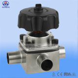 Stainless sanitario Steel Diaphragm Valve con ISO 3A Certification del CE