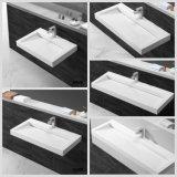 Fregadero superficial sólido de una pieza del cuarto de baño de la tapa de la vanidad