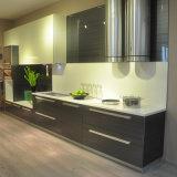 Ontwerp van de Keukenkast van de Omslag van het Meubilair van het Huis van de Deur van het Glas van het Frame van het aluminium het Modulaire Vinyl