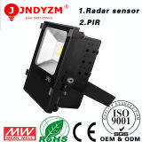 Jardim Flood Light do diodo emissor de luz de Aluminum Housing 20W Radar Sensor da manufatura com CE RoHS Approved