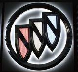 logotipos acrílicos do carro da parede da loja 4s com diodo emissor de luz da iluminação