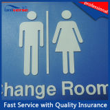 Silbernes Matte Finish Surface Handling Toilet Signs mit Blindenschrift