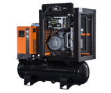 Atals Copco Wechselstrom-doppeltes Schrauben-Luftverdichter-Becken und trockeneres integriertes 11kw, 15HP