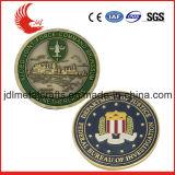 Andenken-Münze des China-Großhandelsdoppelte seitliche Metall3d