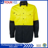 Salut chemises en gros de travail de long son de la chemise deux de force (YWS118)