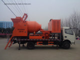 Bomba concreta diesel montada caminhão