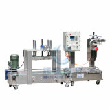 Oil Coating/Paint를 위한 Two Heads 반대로 Explosion를 가진 완전히 Automatic Liquid Filling Machine