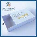 Boîte en carton pliée par noir avec le guichet de PVC (CMG-PGB-025)