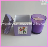 Vela perfumada del regalo de la soja de lujo colorida en vidrio correspondido con