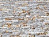中国新しいベージュデザイン大理石の分割された表面文化石