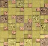 Da telha material do mosaico do cristal da decoração aço &Stainless (FYMG018)