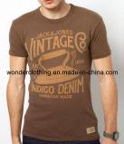 T-shirt rond de vente en gros de cou d'été d'impression de la mode des hommes