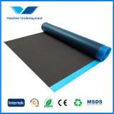 Plancher en bambou de mousse noire d'EVA été à la base avec le film bleu