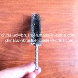 Escova de aço inoxidável do tubo do punho do fio de aço (YY-195)