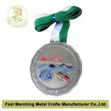 Nuoto Sport Medal, Custom Medallion con Top Quality
