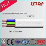 Câble d'énergie, câble cuivre plat de faisceau de 450/750V TPS 3, câble d'isolation de PVC