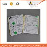 Etiqueta engomada de papel impresa etiqueta modificada para requisitos particulares del PVC de la impresión de la escritura de la etiqueta de la transferencia adhesiva