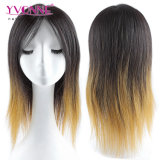 Отсутствие путать отсутствие линяя парика человеческих волос Ombre бразильского курчавого