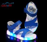 Occasionnel lacer vers le haut les chaussures de fille de gosses de charge d'USB avec des chaussures d'éclairage LED onze couleurs