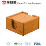 Regalo promozionale del sottobicchiere di bambù quadrato