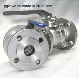 Válvula de esfera da baixa pressão Pn16 Wcb 2PC da linha BSPT com Ce e ISO9001
