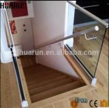Glass (HR1300W-3)를 위한 8+8mm 9+9mm Tempered Aluminum Glass Railing