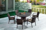 خارجيّ اصطناعيّة [رتّن] حديقة أثاث لازم [رووند تبل] مع كرسي تثبيت قابل للتراكم يستعمل فندق أو وقت فراغ مكان ([يت362-1&تد121])