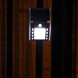 Luz solar montada en la pared impermeable solar blanca/caliente al aire libre de la lámpara 3PCS LED de los colores de iluminación blanca