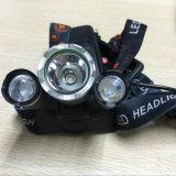 2*18650 Battery+ 충전기 USB 재충전용 1800lm 크리 사람 Xml T6 3 LED Headlamp 어업 플래쉬 등 알루미늄 헤드라이트