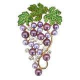 VAGULA umweltfreundliche Perlen-Trauben-Brosche für Dame