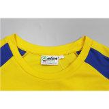 Le T-shirt de cou de fournisseur de la Chine de short de douille des hommes ronds de polyester