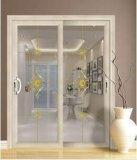 Алюминиевые раздвижные двери при застекленный двойник