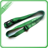 100% Polyester ecologico Material Bottle Holder Lanyard con Clip