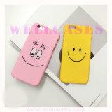 Cas dur de téléphone mobile d'Emoji Serize de face de sourire pour iPhone5/6/6plus