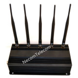 Band-Hemmer/Blocker des Handy-5 für 2g+3G+WiFi+Lojack; 5 Antennen-Zellen-Hemmer, GPS-Hemmer, FernsteuerungsWiFi Hemmer
