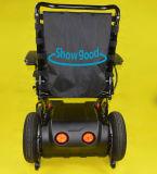 Rolstoel die van de Macht van de Rolstoel van het Product van de Gezondheidszorg van Showgood de Elektrische Rolstoel voor Bejaarden en Gehandicapten vouwt