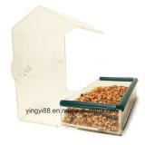 Camera acrilica dell'alimentatore dell'uccello della finestra di alta qualità con il cassetto & i fori di scolo smontabili