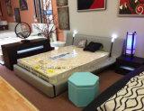 Кровать мебели спальни C023 Foshan с светом СИД