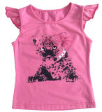 Kids Wear Clothing Sgt-087の花のCute Girl Children T-Shirt