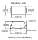 De Oppervlakte van de diode Ss16 zet de Gelijkrichter van de Barrière op Schottky