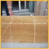 黄色い磨かれた蜂蜜のオニックス大理石のフロアーリングの壁のタイル