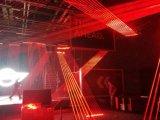 赤いビームレーザー光線