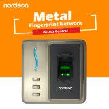 Control de acceso biométrico profesional de la huella digital de la atención del tiempo del diseño metálico RFID de la cubierta con la salida de Wiegand