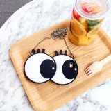 Grosses Eyes Black Eyeball Silicone Phone Fall mit Rope Chain für iPhone 6 6splus 7 7plus (XSF-069)