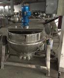 Bouilloire de Jacketr de chauffage de vapeur avec le mélangeur et la palette