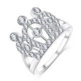 Anello di barretta imperiale della parte superiore della regina del diamante della CZ (CRI01003)
